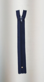 YKK  18cm broek rits nummer 4,5 blauw plastic
