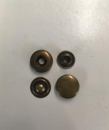 Drukknopen 17mm bruin 100set