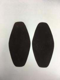elbow patches 1 set  dark brown