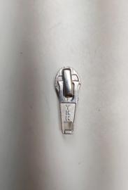 YKK waterdichte rits runner zipper nr 5 zilver