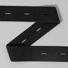knoopsgat elastiek 19mm zwart per meter