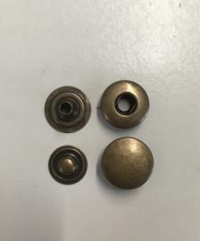 drukknoop bruin 12mm 100sets