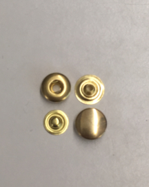 Drukknopen goud 12mm 100set