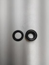 Zeilringen 100sets zwart keur  32mm diameter