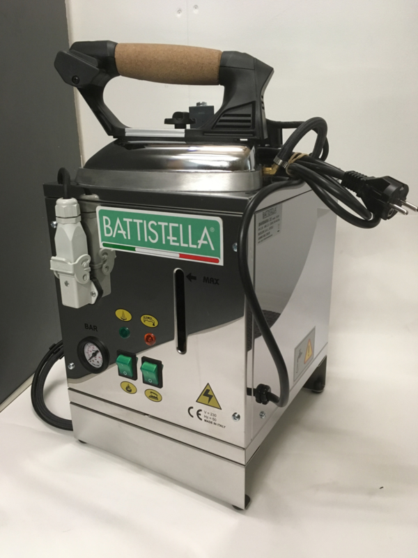 Battistella Inox model 5 liter strijkijzersysteem industrieel professioneel