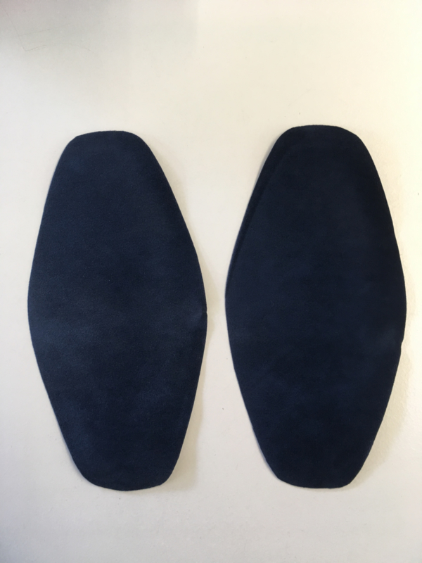 Elleboog stukken blauw kleur 1 set