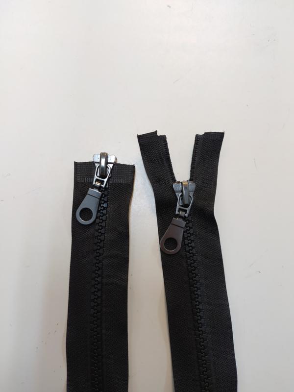 Bloktand Dubbelrunner jas rits 110 cm!  Zwarte kleur