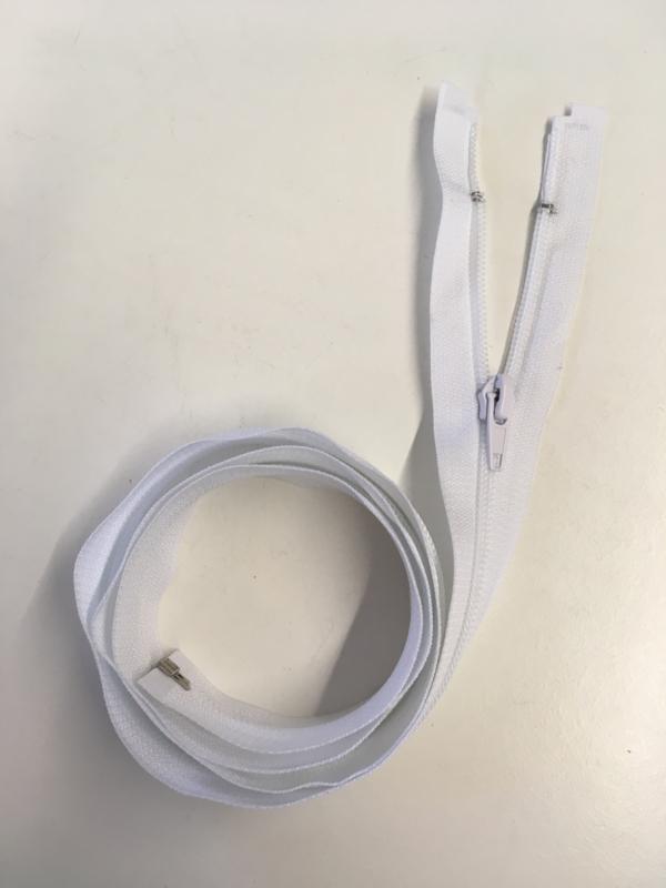 Plastic 100cm witte kleur ritsen