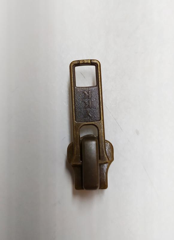YKK rits runner zipper nr 5 voor metaal bronz kleur