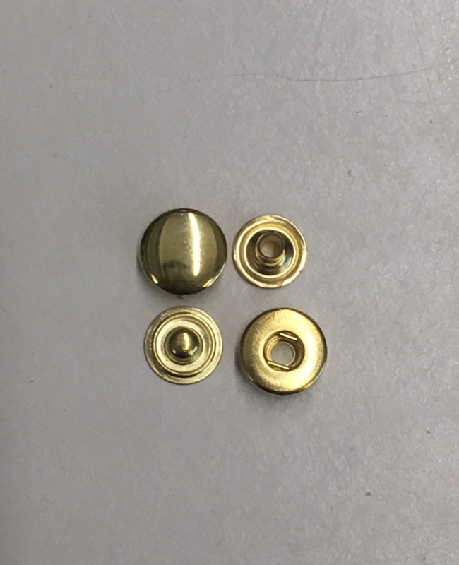 Drukknopen goud 10mm 100set