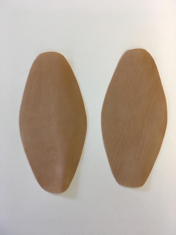 Elleboog stukken beige kleur 1set