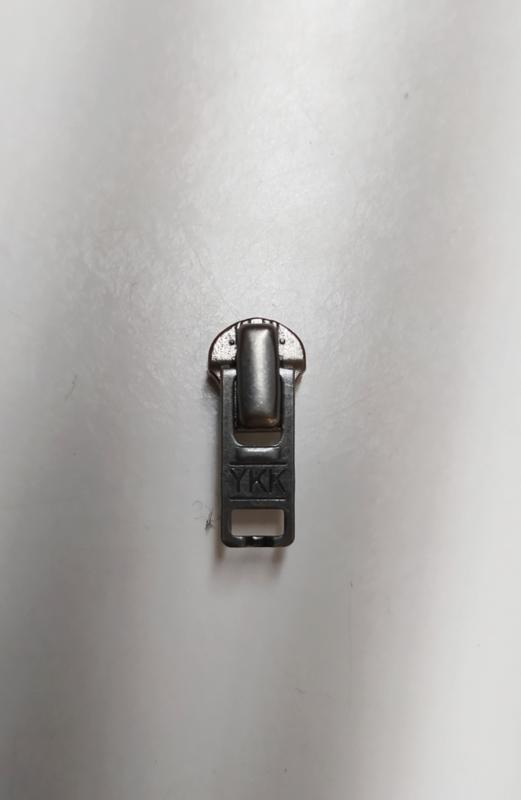 YKK rits runner zipper nr 4,5 zilver voor metaal