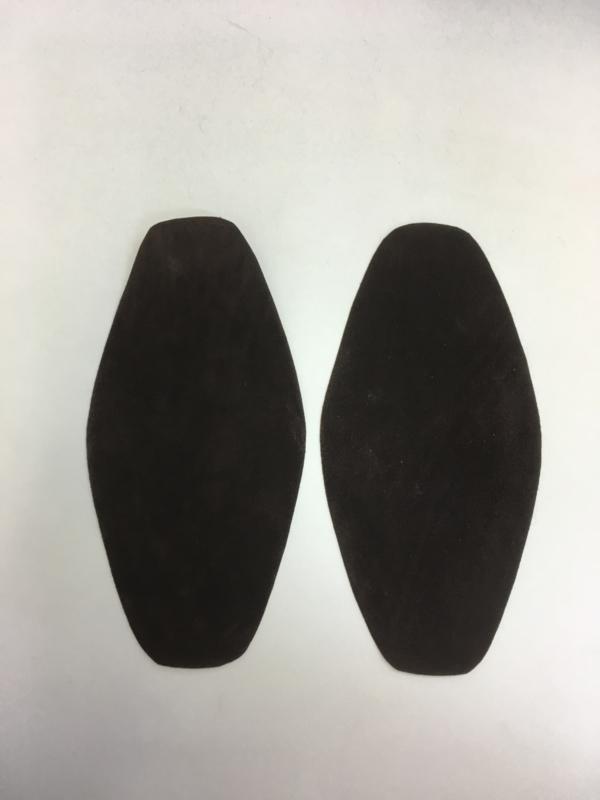 Elleboog stukken donker bruin 1 set