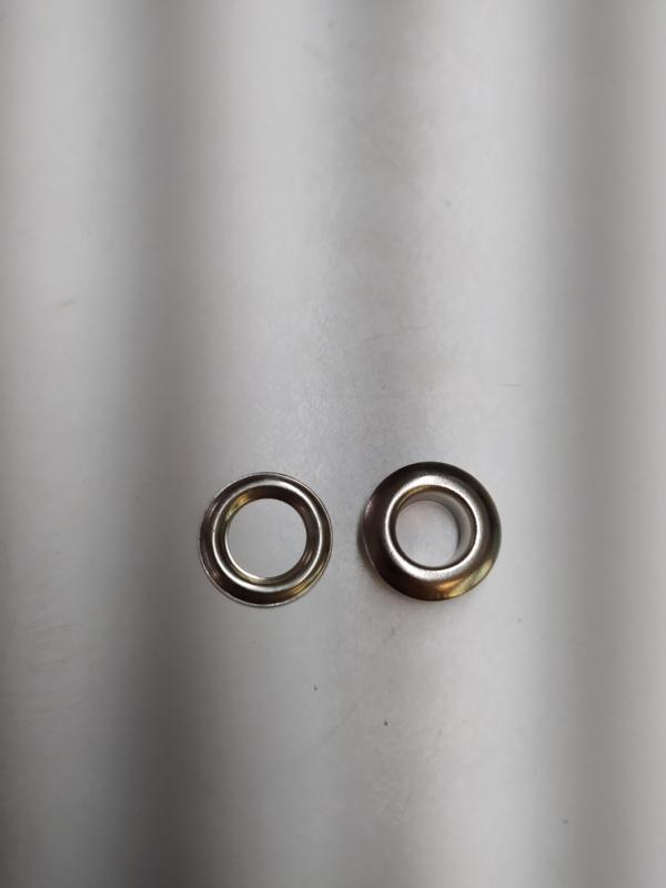 Zeilringen 100sets zilver kleur  9,5mm diameter