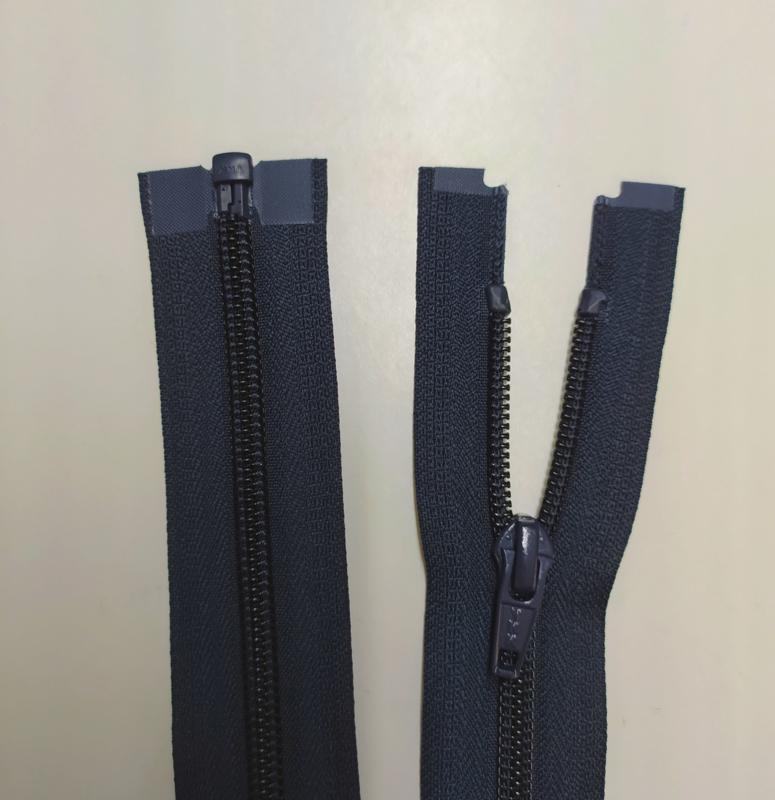 YKK 80cm jas rits donkerblauw spiraal/nylon deelbaar