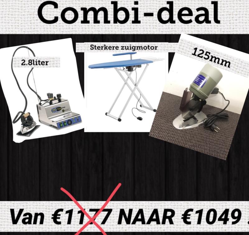 combi deal: 1x 125mm, 1x iron 2.8litre, 1x Eolo Maxi semi-professional
