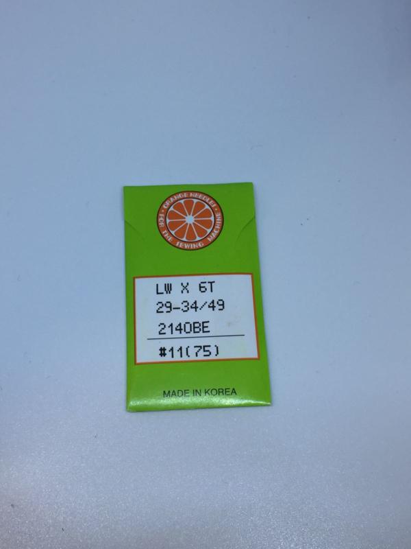 Blindzoomnaald ORANGE maat 11 LWx6T