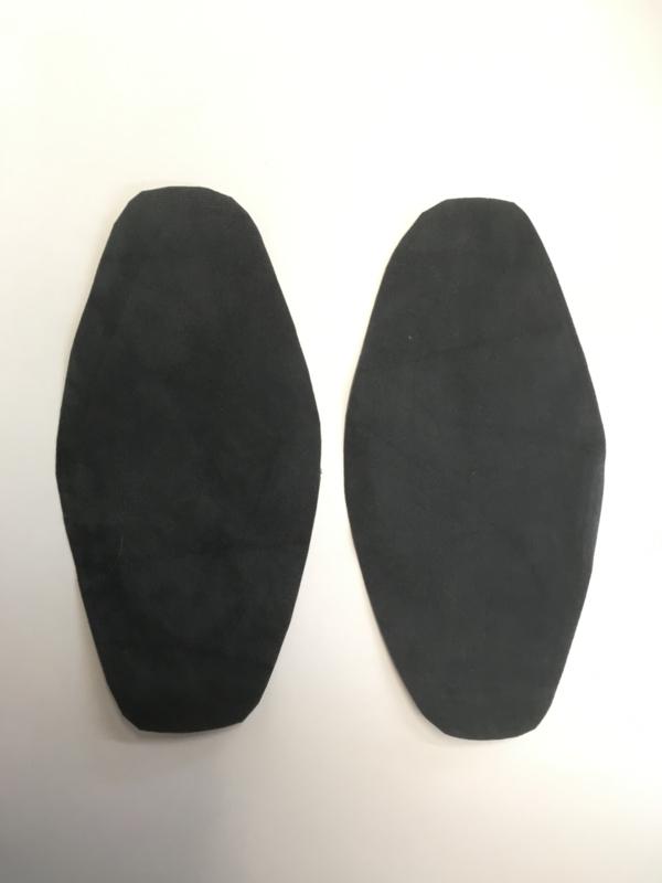 Elleboog stukken donker grijs 1 set