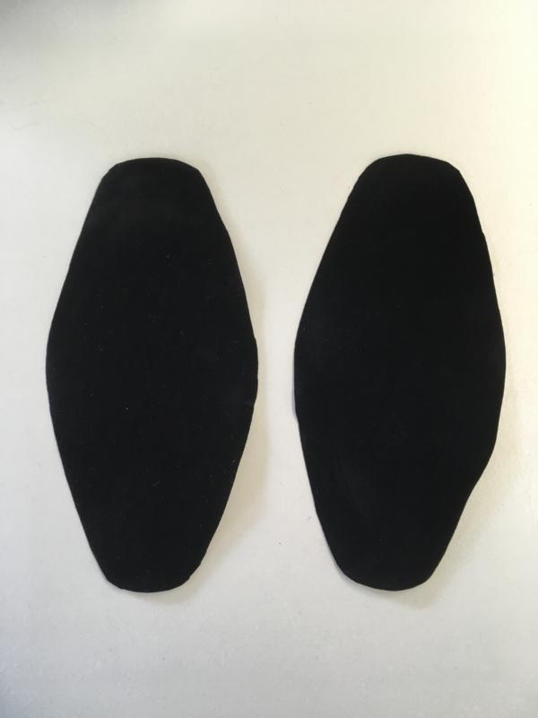 Elleboog stukken Zwart kleur 1 set