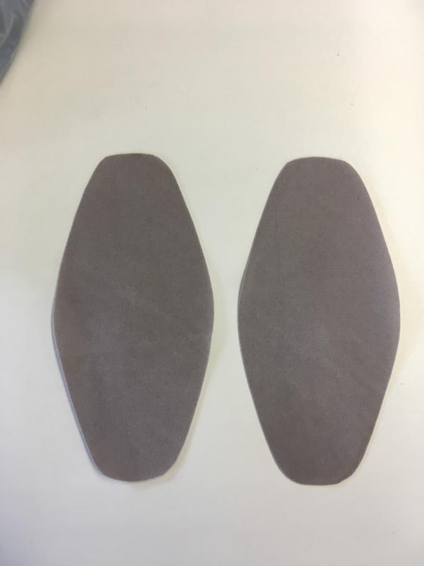 Elleboog stukken grijze kleur 1set