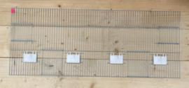 Voorfront 120 x 30 cm  zonder pinnen