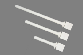 Fauna plastic indraai zitstok wit 10cm