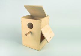 Houten nestkast 20x20x30 cm