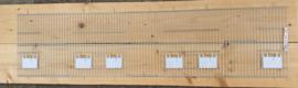 Voorfront  120 x 30 cm met kleppen