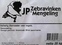 Jp Zebravinken mengeling 20kg