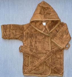 Badjas Brown Clay geborduurd met naam (Keuze uit 2 maten)