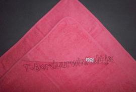 Badcape Indian Red 80 CM geborduurd met naam