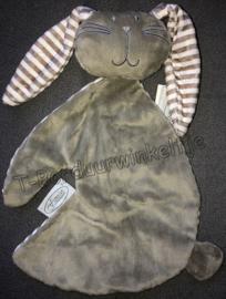 Kroeldoek konijn Knuf Grijs geborduurd met naam