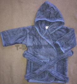 Badjas Silk Blue geborduurd met naam (Keuze uit 3 maten)