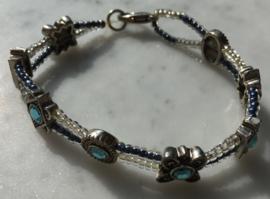 White/Blue bracelet