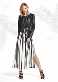 Black/white maxi-dress