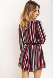 Striped playsuit