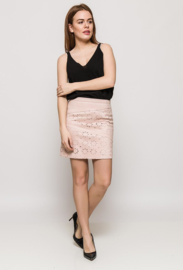 Suedine skirt