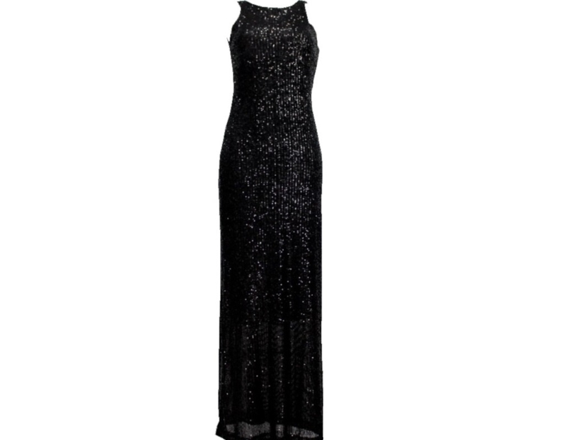 Long dress with sequins
