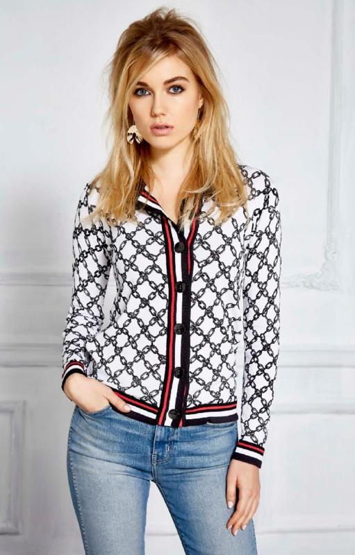 White patterned vest