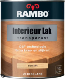 Rambo Interieurlak Transparant - 750 ml.  - Antraciet Grijs 774