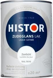 Histor Perfect Finish Zijdeglans Lak - 1,25 liter - RAL 9001 Katoen
