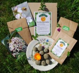 Graszaden, bloemen- en kruidenmengsels en bijenhulp