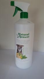 Natuurlijke vlooien- en tekenspray voor ligplekken en meubels (1 liter)