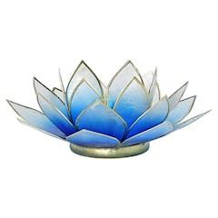 Lotusbloem sfeerlicht blauw verloop/goud