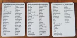 111 Krachtdieren in Nederland Kaartendeck