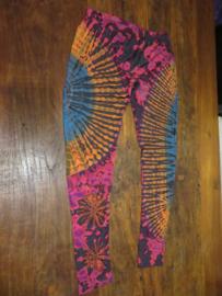 Legging Tie Dye Bigsize Magenta / oranje / lila 2