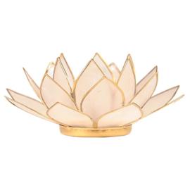 Lotusbloem sfeerlicht wit/goud