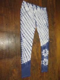 Legging Tie Dye Blauw/wit2
