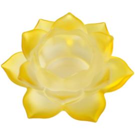 Sfeerlicht Lotusbloem glas Geel