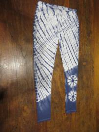 Legging Tie Dye Blauw/wit